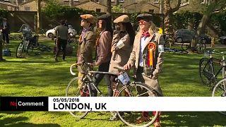 """Londres : la """"Tweed Run"""", ou comment faire rimer élégance rétro et vélo"""