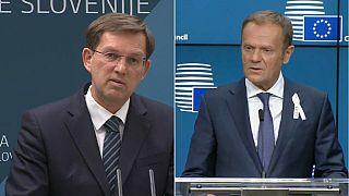 """Tusk: """"El éxito de Eslovenia es bueno para la UE"""""""
