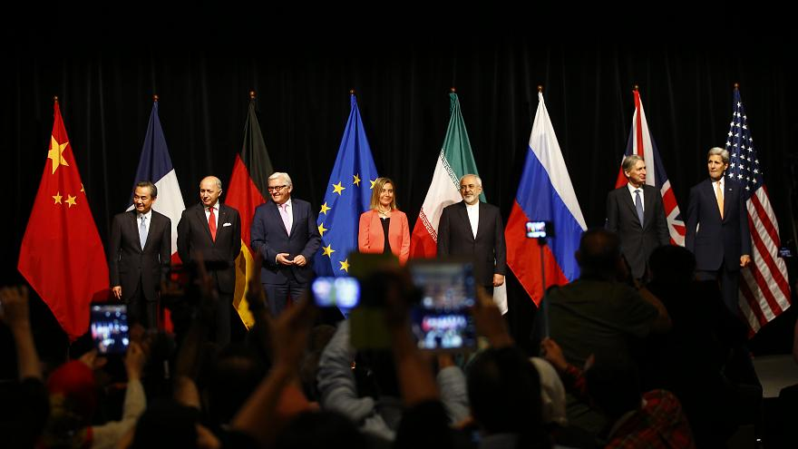 Family photo as world powers agree the Iran nuclear deal, Vienna, July 2015