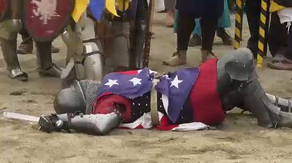 Lovagok püfölték egymást Róma mellett
