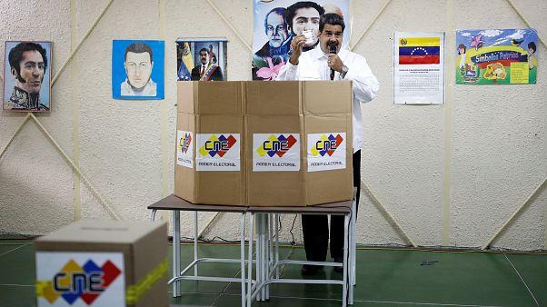 Nicolás Maduro en el simulacro electoral