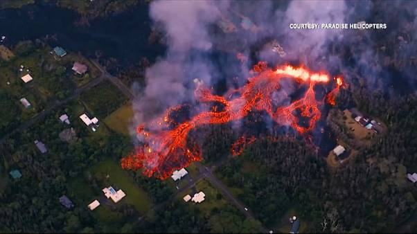 فوران آتشفشان کیلاویا در ایالت هاوایی آمریکا