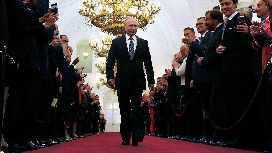 Putin no Kremlin para a tomada de Posse como Presidente pela 4ª vez