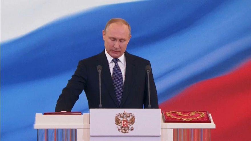 Putin dördüncü defa başkan