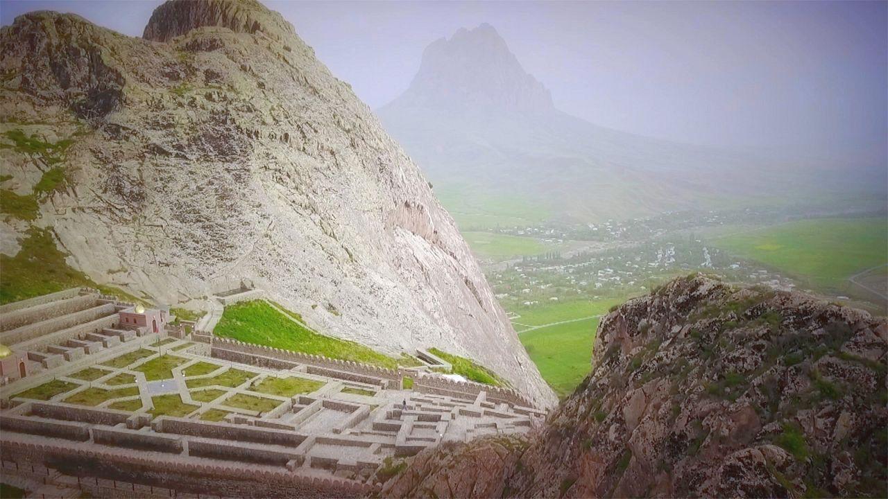 A montanha de Ilandag no Azerbaijão