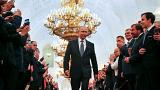 Watch: Putin takes a very long, lonely walk to his fourth term