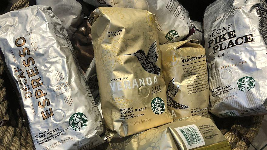 Pacotes de ca´fés Starbucks