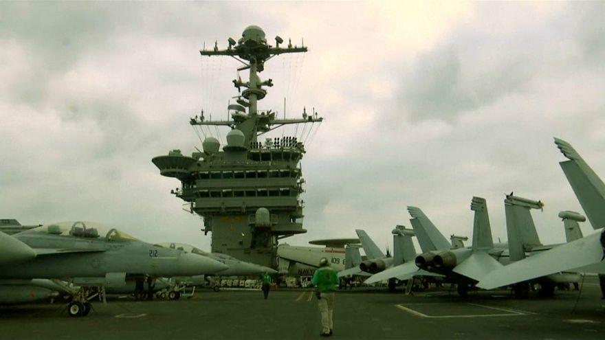 المقاتلات الأمريكية تطلق غاراتها على داعش من البحر المتوسط