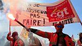 درگیری پلیس و کارگران معترض راهآهن در ایستگاه مونپارناس پاریس
