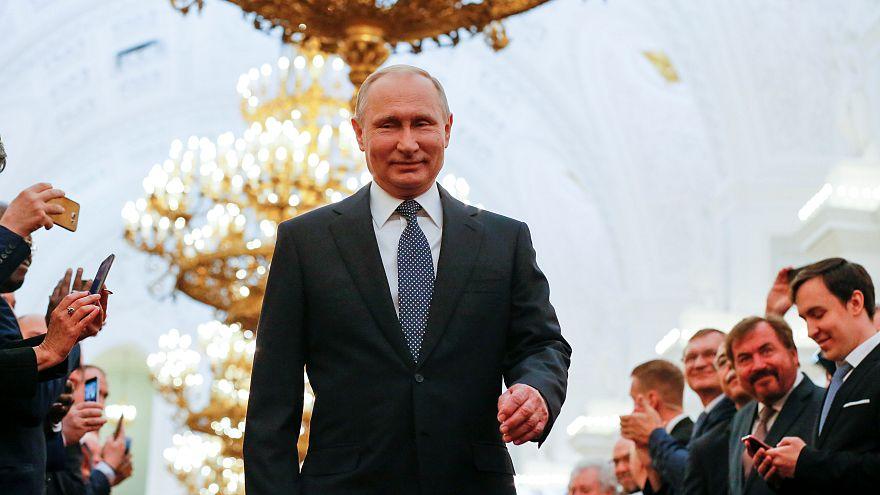 Putin inauguration speech 'devoid of any content'