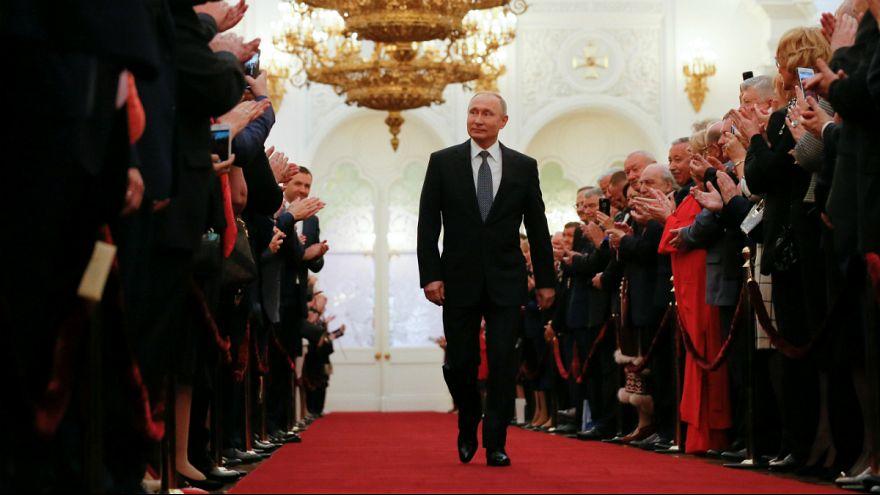 A quarta tomada de posse de Putin como presidente da Rússia