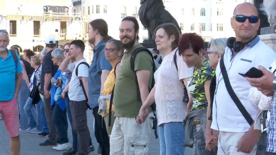 Nueva protesta masiva contra Víktor Orbán en Budapest