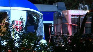 Two dead, 14 injured after train crash