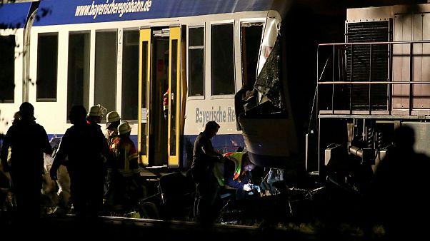 Halálos vonatbaleset Bajorországban