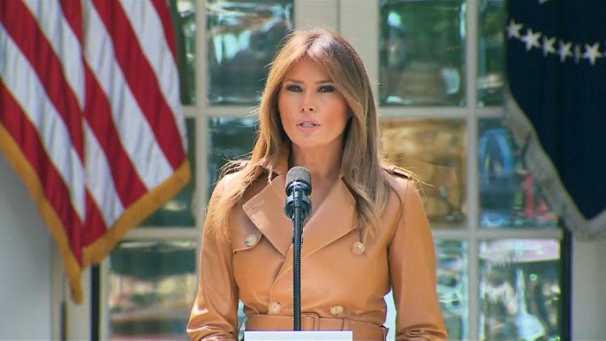 Melania Trump sale de la sombra y presenta 'Be Best'
