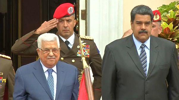 Abás recaba apoyos para los palestinos en Venezuela