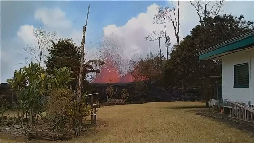 Hawaii resident goes home to find spewing lava