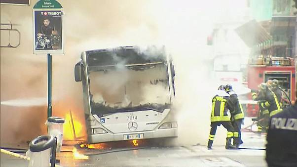 Public bus exploded in Rome
