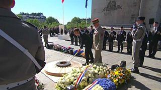Macron conmemora el final de la Segunda Guerra Mundial