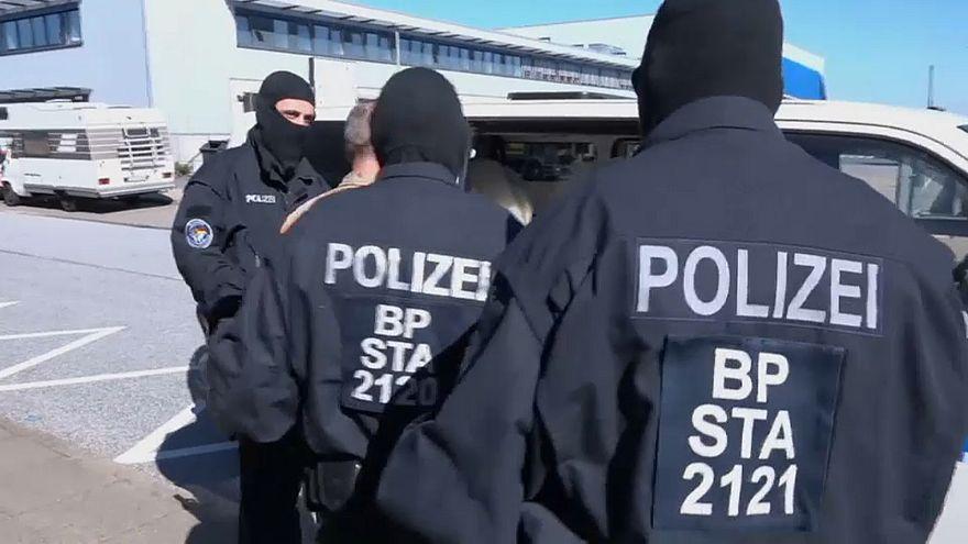 Bundespolizisten im Einsatz in Hamburg