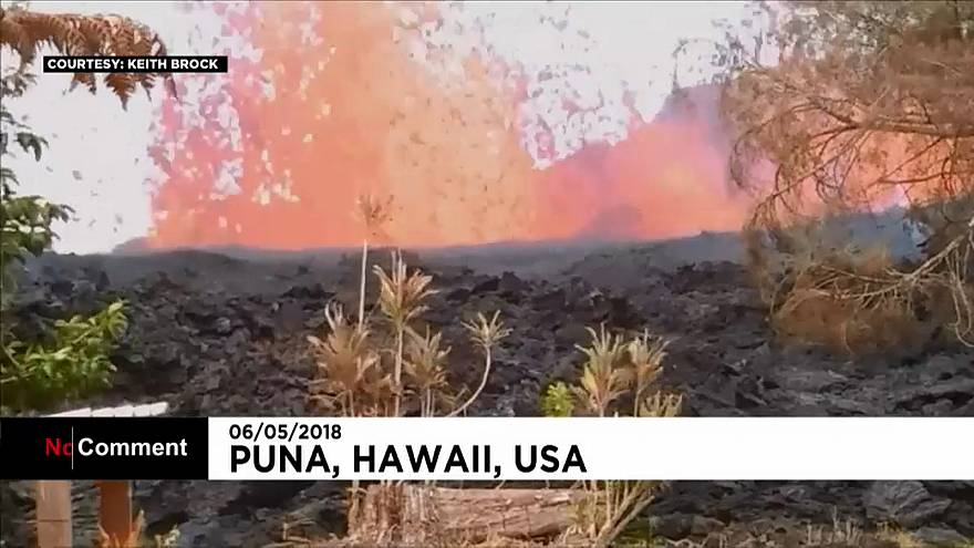 Volcanic lava threatens homes and gardens in Hawaii