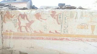 علماء أثار مصريون يعثرون على قبر كبير قادة جيش رمسيس الثاني