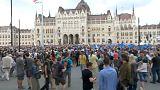 Protestas en Budapest contra el nuevo Parlamento húngaro