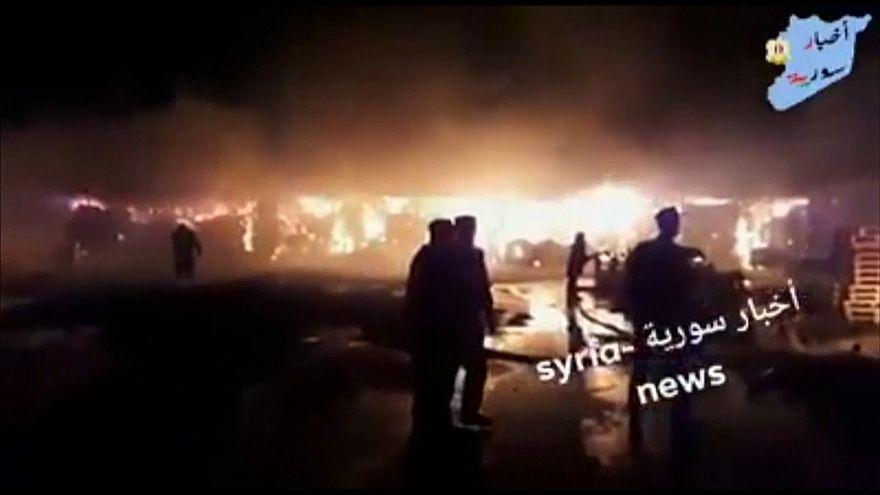 Imagens divulgadas pela televisão estatal da Síria
