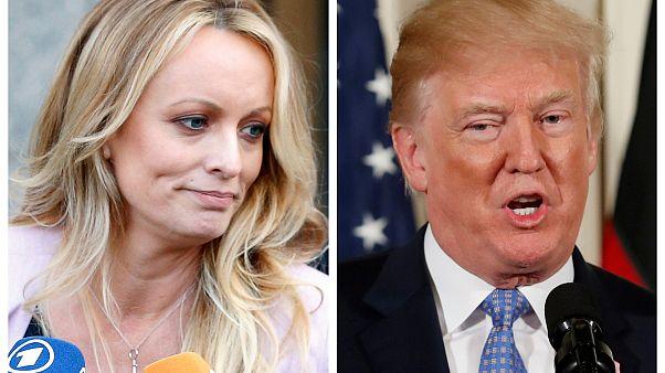 Die Pornodarstellerin Stormy Daniels und US-Präsident Donald Trump