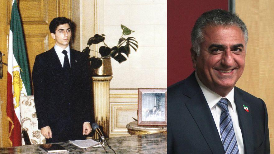 رضا بهلوي الثاني (صورة حالية وصورة له عام 1980) - المصدر ويكيميديا