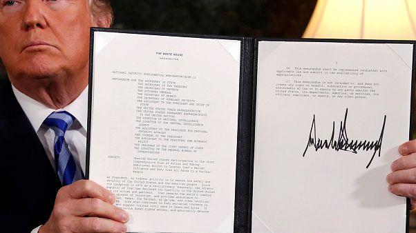US-Präsident Donald Trump verkündet seine Entscheidung zum Atomdeal