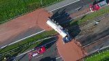 Un camion rempli de chocolat se renverse en Pologne