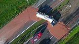 Toneladas de chocolate en una autopista de Polonia