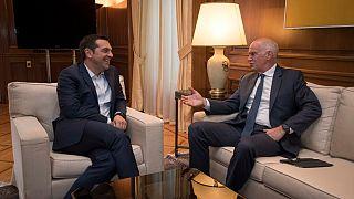 Τα εθνικά θέματα συζήτησαν Αλ.Τσίπρας και Γ.Παπανδρέου
