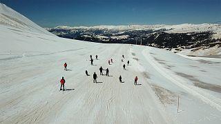 Batum'da dönence altı kayak keyfi
