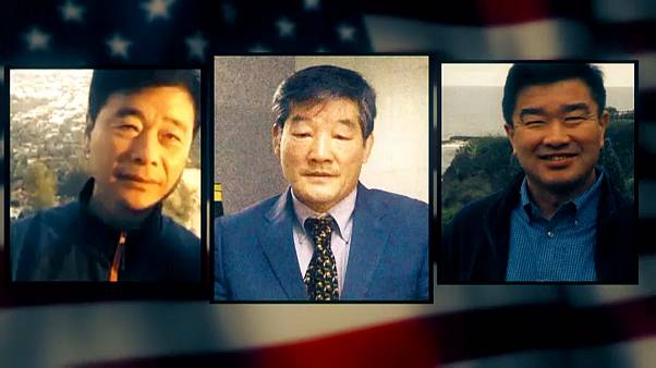 The three men released from North Korea detention