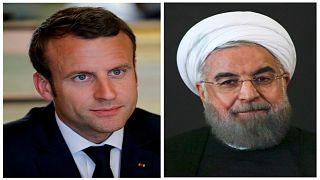 ماكرون يدعو روحاني إلى التمسك بالاتفاق النووي