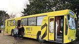 اتوبوس های ویژه خوش آمدگویی به پناهجویان در فرانسه
