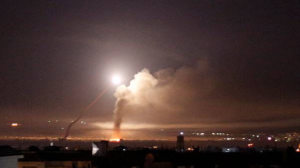Bombardeo visto desde Damasco