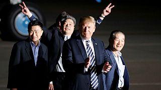 زندانیان آمریکایی در کره شمالی به واشنگتن رسیدند؛ ترامپ از کیم تشکر کرد