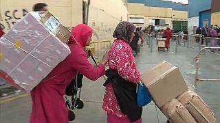 La lucha por la supervivencia de las mujeres mula de Ceuta