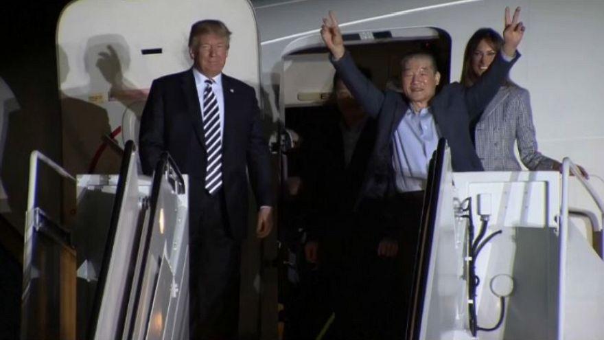 Trump accoglie i detenuti e ringrazia Kim