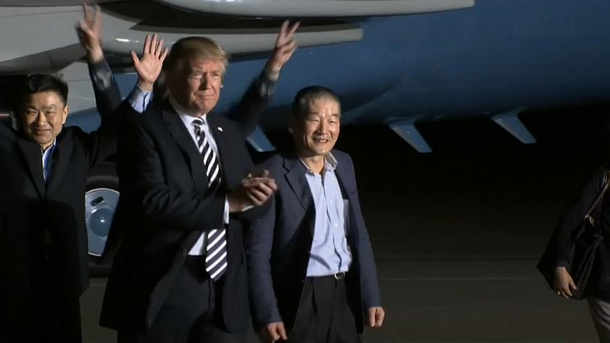 """Trump begrüßt von Nordkorea Freigelassene und will """"die gesamte Halbinsel denuklearisieren"""""""