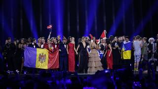 I finalisti sul palco di Eurovision