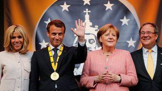 """أنغيلا ميركل """"قلقة"""" من أفكار ماكرون تجاه الاتحاد الأوروبي"""