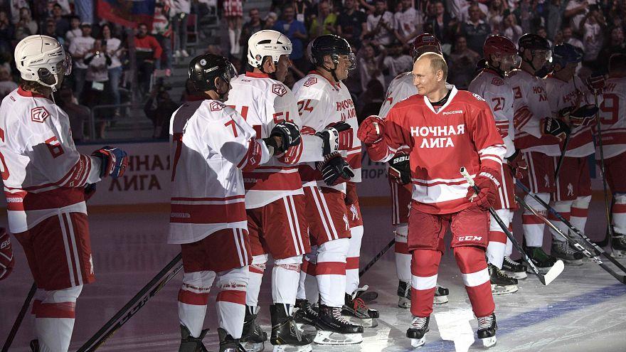 Хоккейный матч Путина
