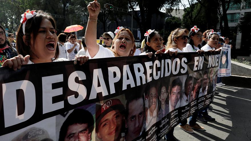 مظاهرة في مكسيكو للمطالبة بعودة المغيبين