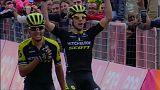 Liderato para Yates y triunfo de etapa para Chaves en el Giro