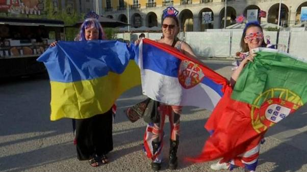Fans gather in Portugal for the Eurovision finale