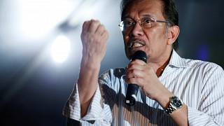 FILE PHOTO Anwar Ibrahim speaks during election campaign Kuala Lumpur 2013